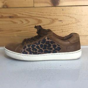 Born Sur Leopard Leather fabric sneakers 8.5